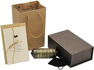 Moontie - Serrure à cylindre de code Da Vinci, mini serrure d'amateur Cryptex, puzzle créatif, puzzle, cadeau romantique, ...