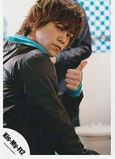千賀健永(Kis-My-Ft2/キスマイ) 公式生写真/Goodいくぜ!・衣装黒×水色・カメラ目線・親指立て...
