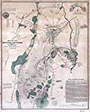Large Posters MAP Antique USA Civil WAR Battlefield Gettysburg Replica Poster Print PAM1249