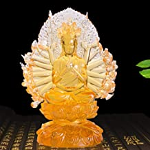 Sculptures Statues Collectible Figurines Glass Buddha Statue Thousand Hands Guanyin Religious Home Decoration Character Cr...
