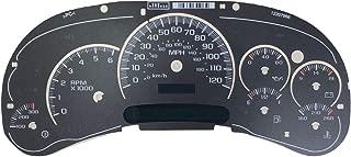 Tanin Auto Electronix Custom Black Gauge Face Overlay   2003-2005 GMC & Chevy Truck Instrument Cluster Speedometer   7 Gauges
