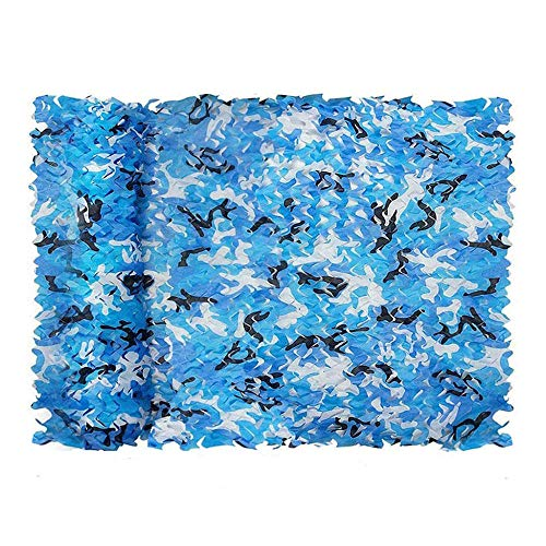 TWMHXZ Sunning Net Shading Net for Jardines con Sombra al Aire Libre, 4x5m Ocean Camo, Aplicar a la Pérgola, Techo, Invernadero, Jaula de Animales, Jardín, Cochera