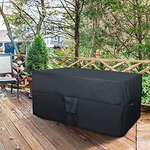 Fitprobo Funda protectora impermeable para muebles de jardín, protección contra rayos UV, para mesas de jardín, protección contra la lluvia y el polvo, tejido Oxford 600D, 170 x 94 x 70 cm