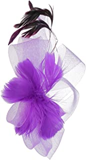 Matrimonio sposa–balli con piuma Fascinator Fermaglio Per Capelli Clip per capelli copricapo