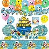 Décoration de fête d'anniversaire pour Enfants P0kem0n - Assiettes Coupes Serviettes Couvertures de Table avec Ballon Gratuit - pour 10 invités