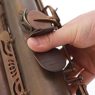 CIELmusic Saxophone Thumb Rest Cushion, Saxophone Thumb Pad, Saxophone Thumb Protector, Alto/Tenor Saxophone, Soft Durable Leather, Handmade