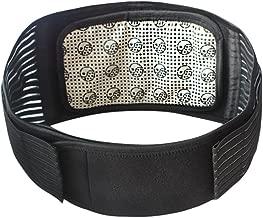 healifty térmica Cinturón Faja Lumbar Cinturón lumbar ajustable con imán para Dolor Reducción y corrección de postura Masaje para mujer hombre–tamaño L (Negro)