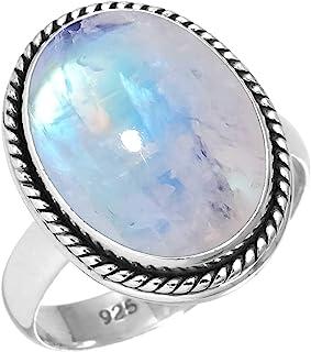 خاتم نسائي مصنوع يدويًا من الفضة الإسترلينية عيار 925 من جيلوبيوريوم