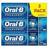 Oral-B Pro-Expert Dentifrice Nettoyage Intense, 24 H de Protection, Protège Contre la Plaque Dentaire, Lot de 3x75 ml