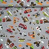 MAGAM-Stoffe Bunte Autowelt Baumwollstoff Kinderstoff 100%