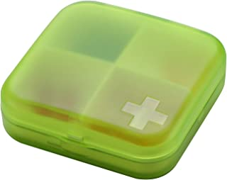 XZHMYYH Medicine box Two seals mounted portable multifunction mini medicine cassette storage box (Color : Green)
