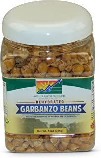 Mother Earth Products Dehydrated Fast Cooking Garbanzo Beans, quart Jar, 14 Ounce (Pack of 1) (Quart Size)