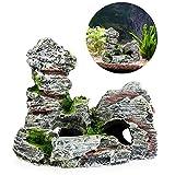 Lunji - Rocce ornamentali per acquario, nascondigli per pesci e gamberetti, dimensioni 11,...