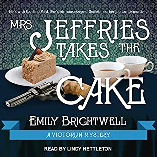 Mrs. Jeffries Takes the Cake audiobook cover art