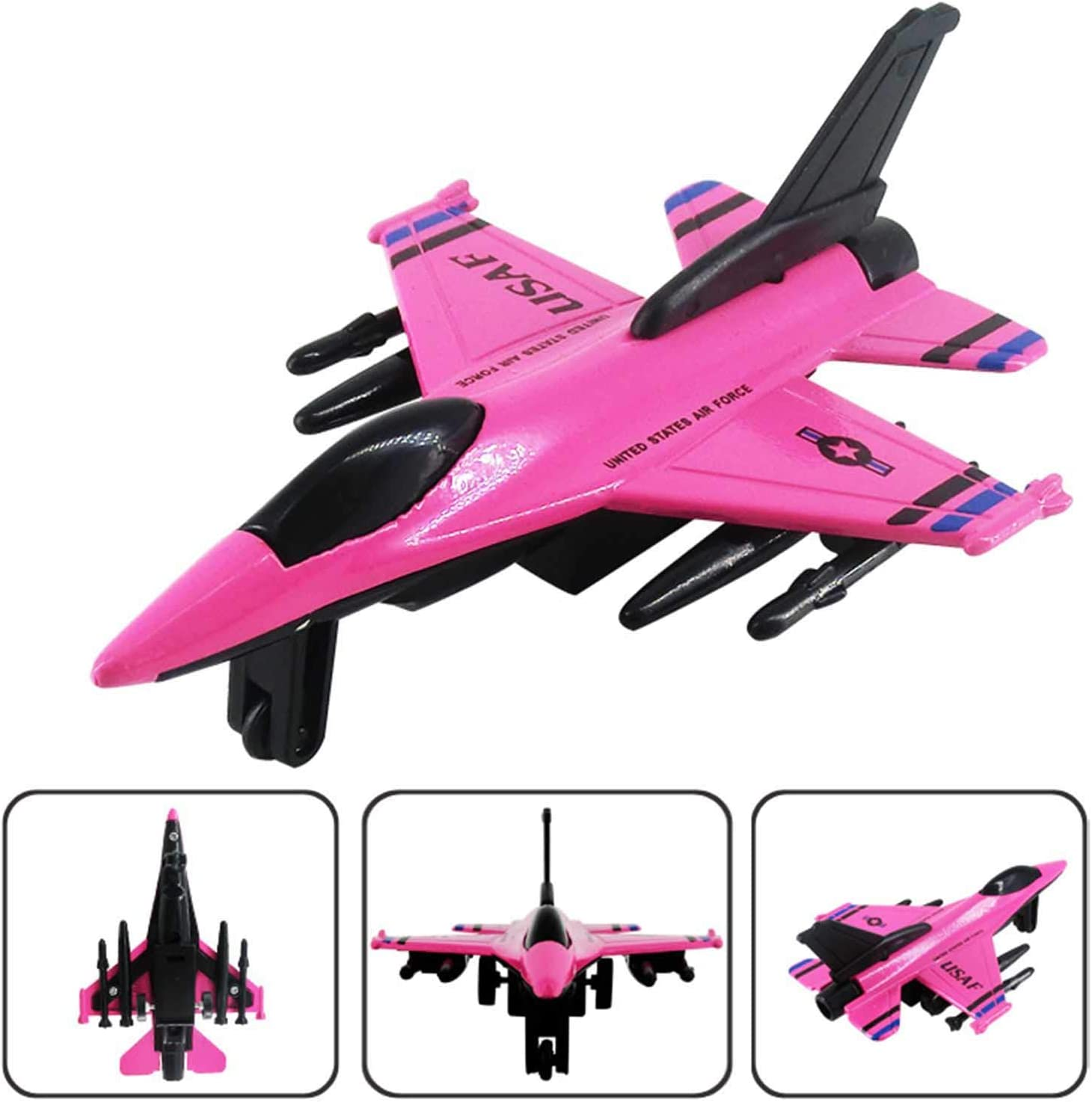 B Saicowordist Pull-Back Airplanes Set Die Cast Metal Military Themed Fighter Jets Air Force Fighter Planes Best Toy Gift Set For Kids Plane Toys For Boys And Girls