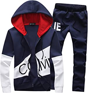 Men's Sweatsuits Letter Print Tracksuits Slim Jogging Suits Sports Outwear Sweatshirts
