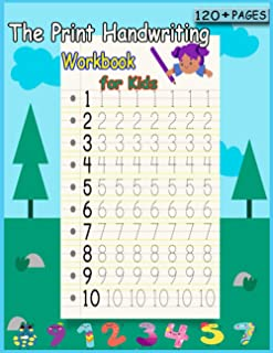 The Print Penmanship Workbook for Kids: Improve Your Handwriting with Fun Animal Facts, and coloring pages.