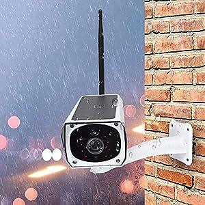 Cámara IP inalámbrica de vigilancia de energía Solar WiFi, 1080P 2 0MP Intercomunicador de visión Nocturna a Prueba de Agua Cámara de Seguridad para Interiores y Exteriores-Italia