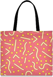 MONTOJ Damen-Handtasche aus Segeltuch, verschiedene gelbe Linien