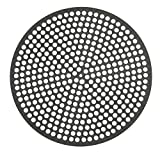LloydPans Lloyd Pans 12 inch, Pre-Seasoned PSTK, Perforated Made in the U Pizza Quik Disk, Dark Gray