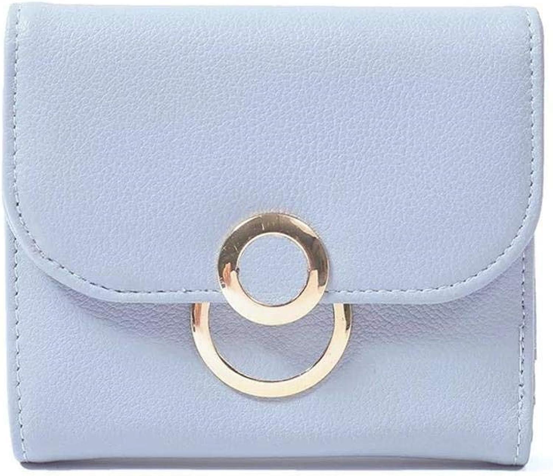 Girls Purse Women's Wallet Ladies Mini Wallet 30 Percent Matte Simple Retro Women Wallets (color   C)