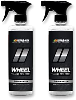 Turbo Wax Wheel Cleaner Deluxe, Destroys Brake Dust, Oil, and Road Grime, No Acids, Butyl Ethers, Harsh Detergents or Other Harmful Chemicals (2 Pack)