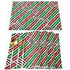 ランチョンマット 4 枚セット コットンリネン プレースマット おしゃれ テーブルマット綿 麻 雰囲気アップ 撥水 防汚 丸洗い お手入れ 簡単 滑り止め 摩擦 耐える 断熱 食卓飾り 給食ナフキン 布 クリスマス 文字 クリスマスおめでとう