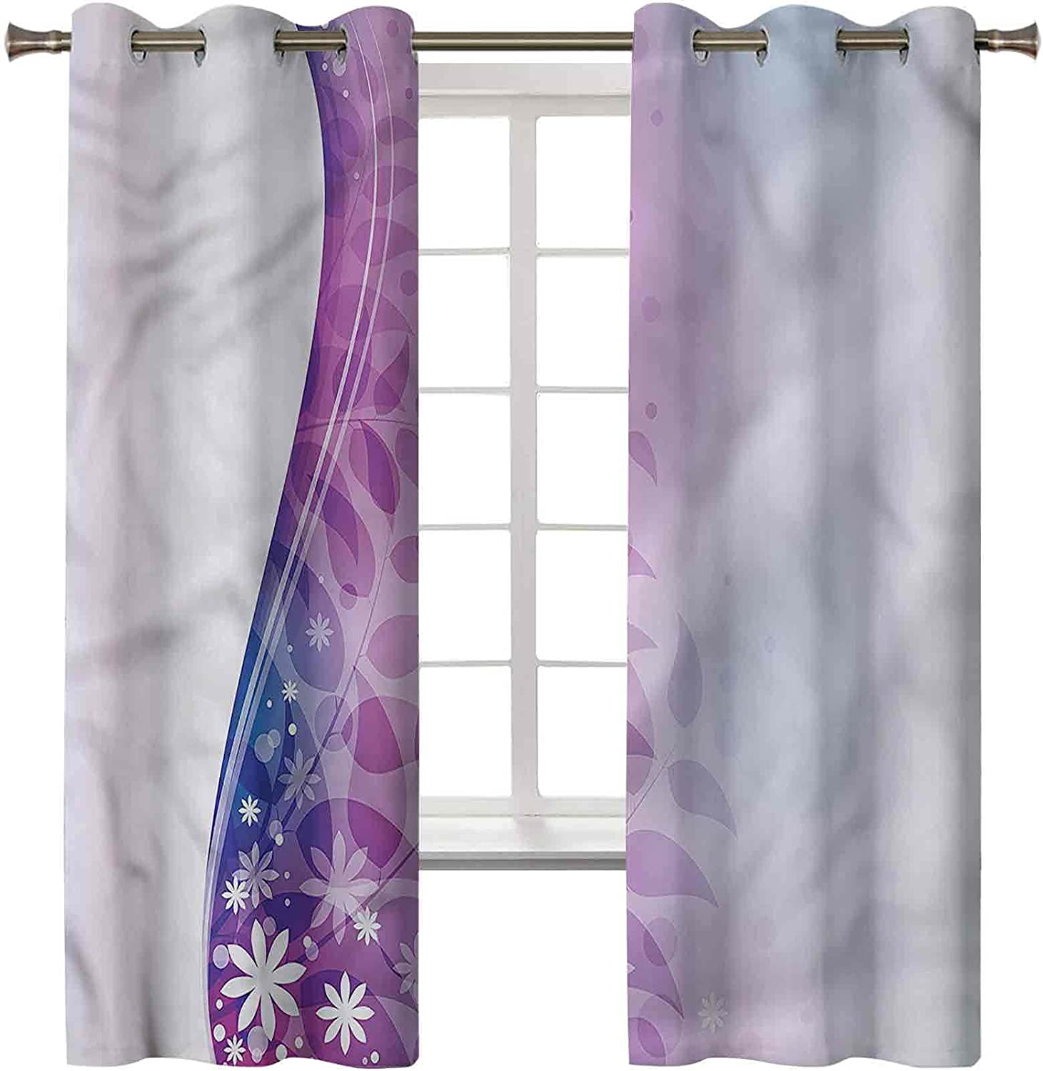 Violet Blackout Curtains for Bedroom Set 45L 38W x 2 Seasonal Wrap Max 58% OFF Introduction of Panels