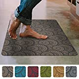 """Shape28 Floor Mat Ultra-Thin Kitchen Rug with Non Slip Rubber Backing 35""""x23"""", Cappuccino"""