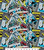 DC Batman Stoff – 0,5 m Multiples – (100% Baumwolle,