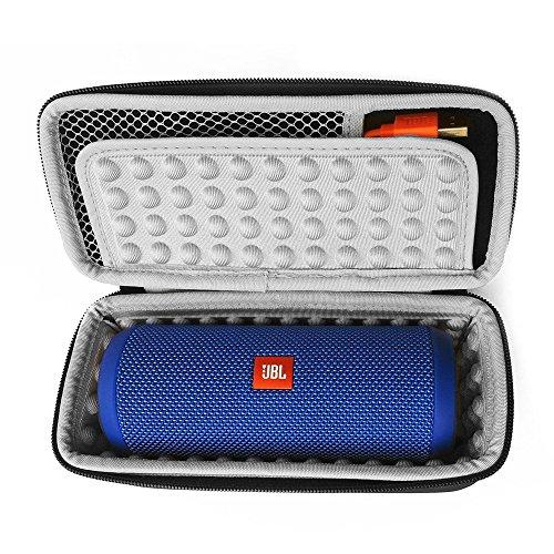 Linghuang harde beschermhoes voor JBL Flip 5/4/3 Bose SoundLink Mini luidspreker, Bluetooth, draadloos, afmetingen 22 x 8,5 x 9 cm, l'intérieur gris
