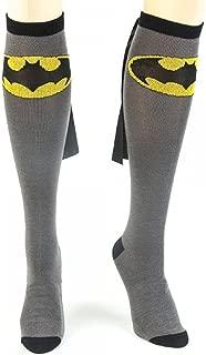 Superman and Wonder Woman Knee High Cape Socks Grey