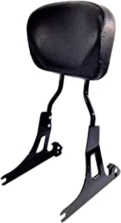 Tall Quick Release Black Passenger Sissy Bar Backrest with Larger Pad for Harley Davidson Dyna Like Street Bob Low Rider S Super Wide Glide 2006-2017 ref 52124-09A side plates 52300020 51132 98