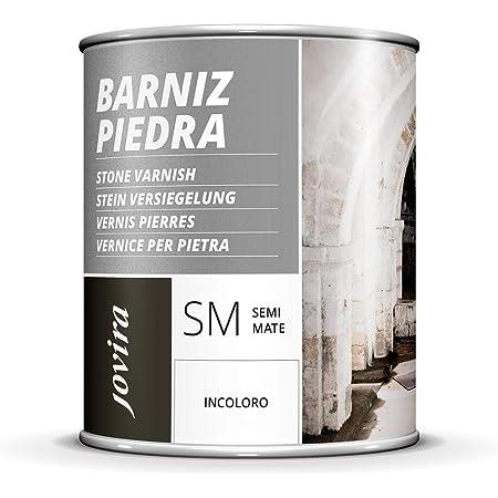 BARNIZ PARA PIEDRA, LADRILLO, TERRAZO, PIZARRA, Incoloro natural Transparente (750 ML)