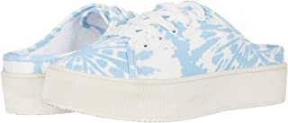 Jessica Simpson Women's Eyden lace-up Mules Sneaker Bright White Combo