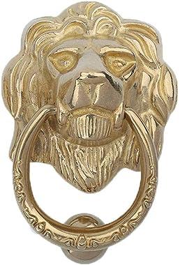 Lion Head Door Knocker,European Style Brass Pull Ring Door Fittings Hardware Front Door Wooden Door Patio Manor-13.5Cm(5.3Inc