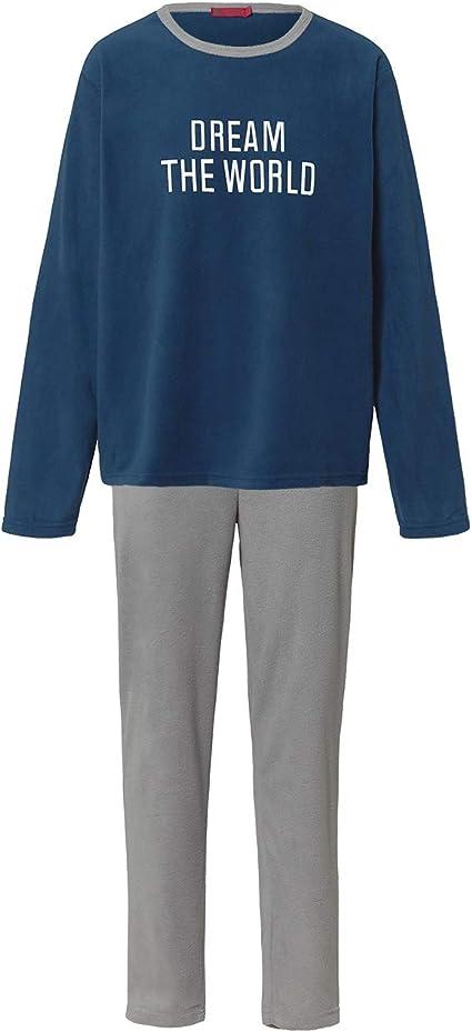 Pijama Niño Térmico Polar Largo Azul y Gris (World, 08 años)
