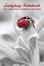 Ladybug Notebook: 100 Lined Pages Composition Book (Pretty Flower Note Book Journaling)
