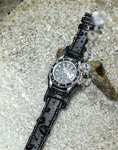 HDTDESIGNBUNDレザー24mmタバコ[タバコスティッチ]時計ベルトバンド[腕時計][クロノワールドchronoworld][簡単キット付]