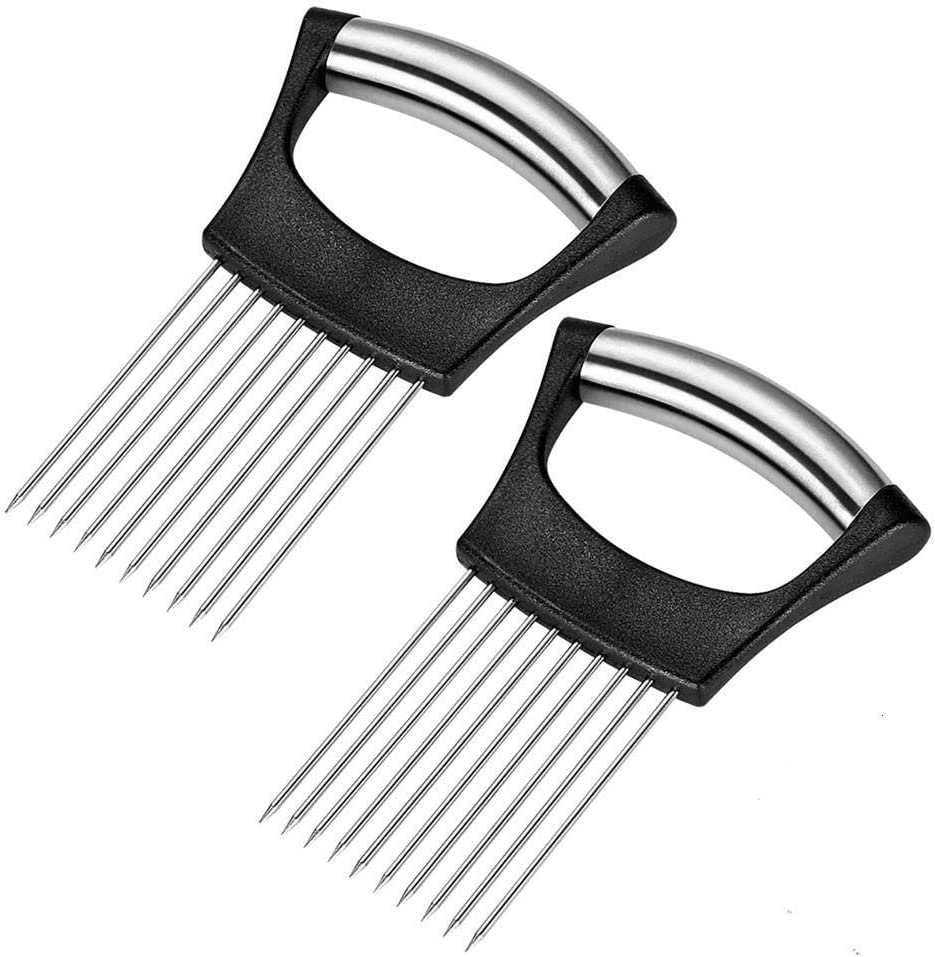 2 Pcs Onion Holder Fork Stainless Powerful Slicer Ranking Max 62% OFF TOP16 Assistant Food