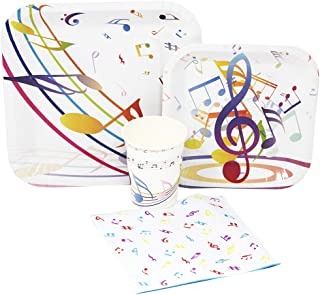Blue Orchards Music Party Standard Party Packs (65+ Pieces for 16 Guests!), Music Birthday, Music Party Supplies