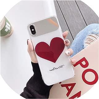 該当するfor アップルxsmax / 8plus化粧鏡携帯電話シェルバックギャモンR17 / X27ネット赤保護カバーP30P,愛してる,for iPhone7plus / 8plus