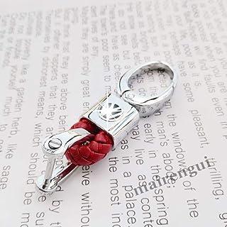 KJHKJH Portachiavi In Pelle Intrecciata Per Auto Logo Portachiavi Per Audi Bmw Mercedes Toyota Honda Citroen Portachiavi Personalizzato Cordino Donna