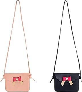 SOTOGO 2 Pack Little Girls Purses Cute Princess Handbags Shoulder Bag Cross Body Bag for Little Girls Toddlers as Gift
