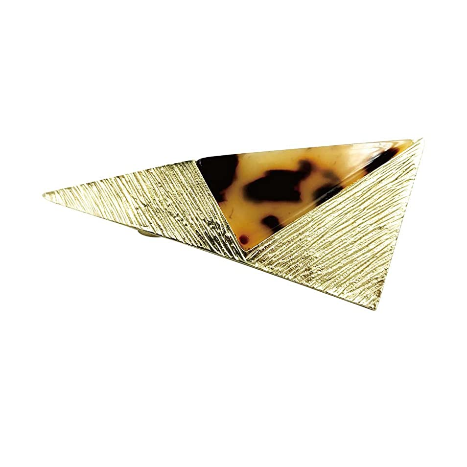 ペデスタル懲らしめ朝食を食べるjiang オリジナル スタイリッシュな人気のべっ甲風柄と艶やかな質感が魅力のトライアングルバレッタ トライアングルバレッタ004