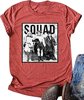 Squad Sanderson Sisters Shirt Womens Halloween Graphic T-Shirt Funny Hocus Pocus Tops Tees