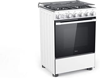 Midea 60 x 60 4 Burners Gas Cooker With Full Safety, White - BME62057FFD, 1 Year Manufacturer Warranty