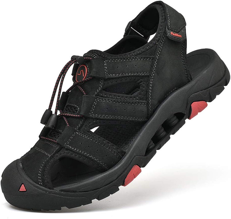 QRETYSG flip flop Sandals Leather Men Summer Male Flat Beach shoes Flip Flops Brown Black Breathable Man Fashion Soft Sneakers