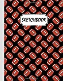 Rugby Football Sketchbook Gift For Men Women Girls Kids: Cute Art Rugby Football Sketchbook Blank Paper Journal for Drawing, Writing, Sketching, Wide Papers 8.5 X 11 Inc - 100 Pages
