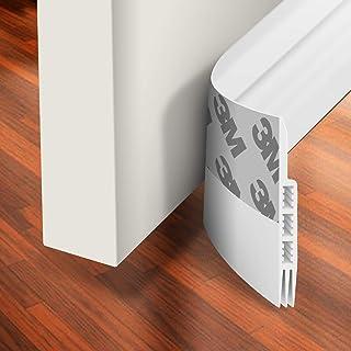 Holikme Door Draft Stopper Under Door Draft Blocker Insulator Door Sweep Weather Stripping Noise Stopper Strong Adhesive W...
